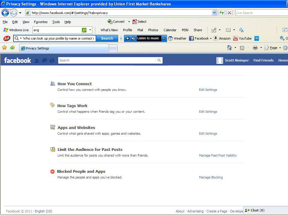 Suggested Facebook Privacy Settings