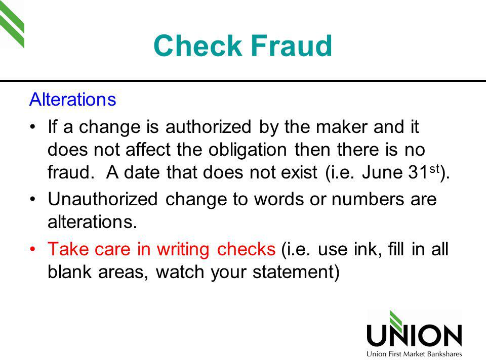 Check Fraud Counterfeiting Fastest growing segment of check fraud with the greatest loss exposure How.