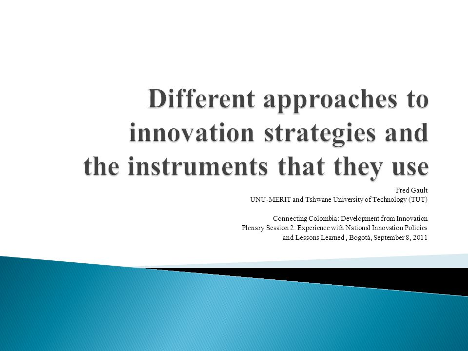 Innovation Innovation Systems Making a system work Constraints Framework conditions, 1 and 2 Are we there yet.