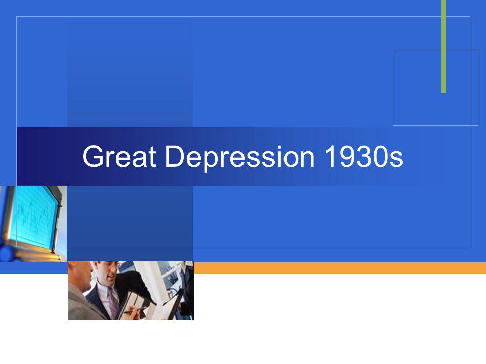 Company LOGO Great Depression 1930s