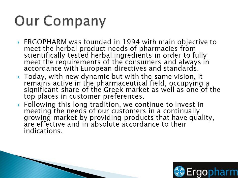Visit our website: https://www.ergopharm.gr Like us on facebook: https://www.facebook.com/ergopharm For collaboration, contact our export partners: stelios.gryparis@horizontrade.eu s.gryparis@ergopharm.gr