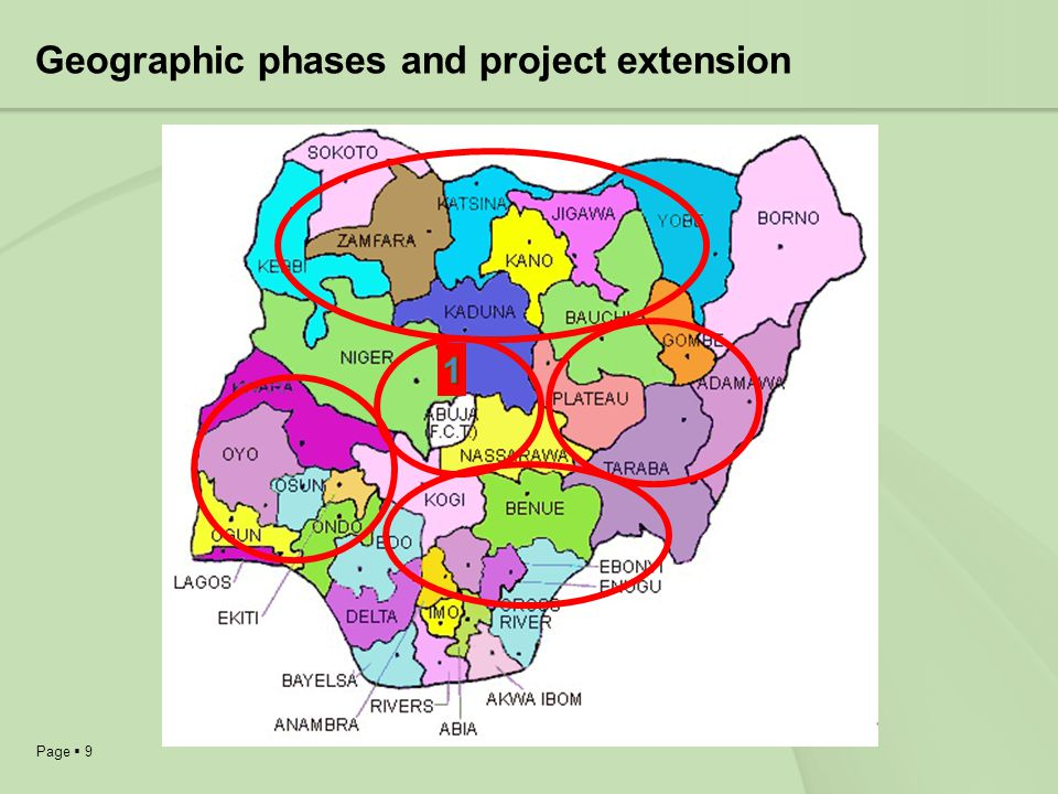 Page 9 Geographic phases and project extension