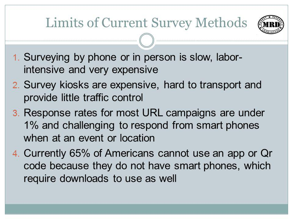 Limits of Current Survey Methods 1.