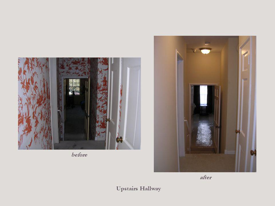 Upstairs Hallway before after