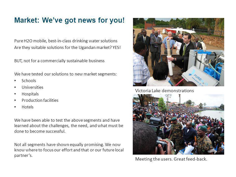 Market: Weve got news for you.