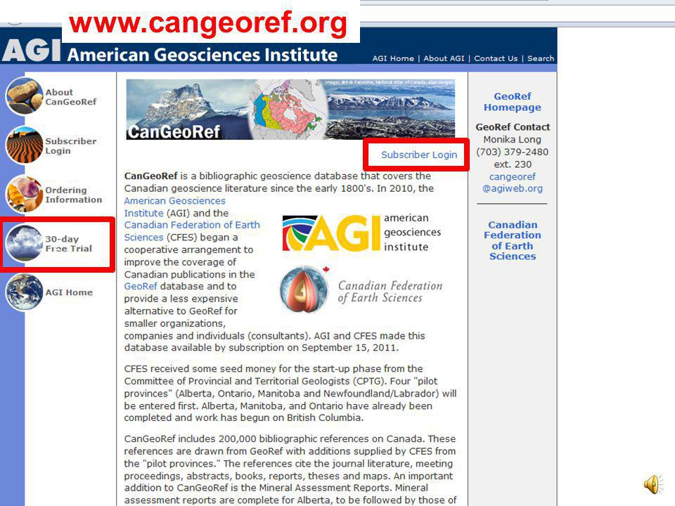 Why pay when Google is free? CanGeoRef is objective: different users - searching the database with a specific keyword - get the same results. Free onl