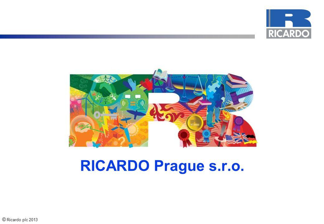 © Ricardo plc 2013 2 History of Ricardo 1910 19151920s 1931 1930s19361941 1950s 1934 1960s 1970s1983 19861996 2006 2011 2000s 2008 2010
