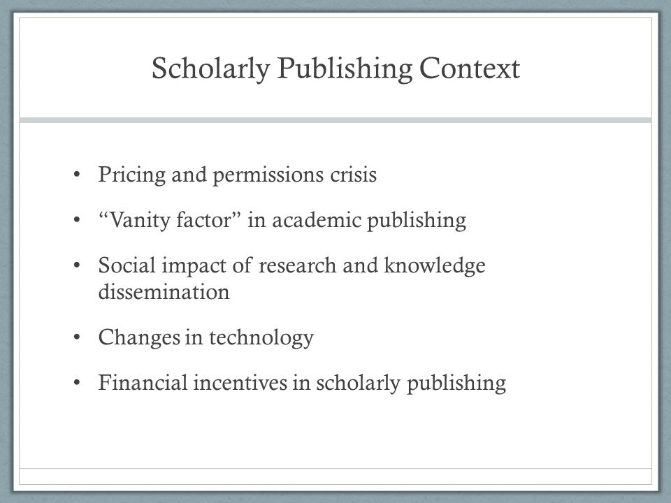 Public Knowledge Project Open Journal Systems (OJS) – Electronic journal publishing software; open source (http://pkp.sfu.ca)http://pkp.sfu.ca Worldwide uptake – Latin America, Europe, Africa, Asia 250 + electronic journals in Africa using OJS Strengthening African Research Culture and Capacities project