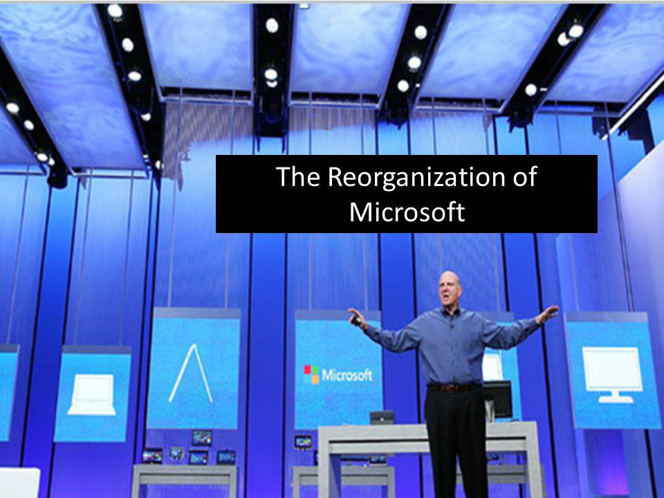 The Reorganization of Microsoft