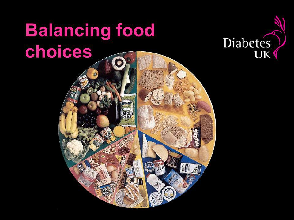 Balancing food choices