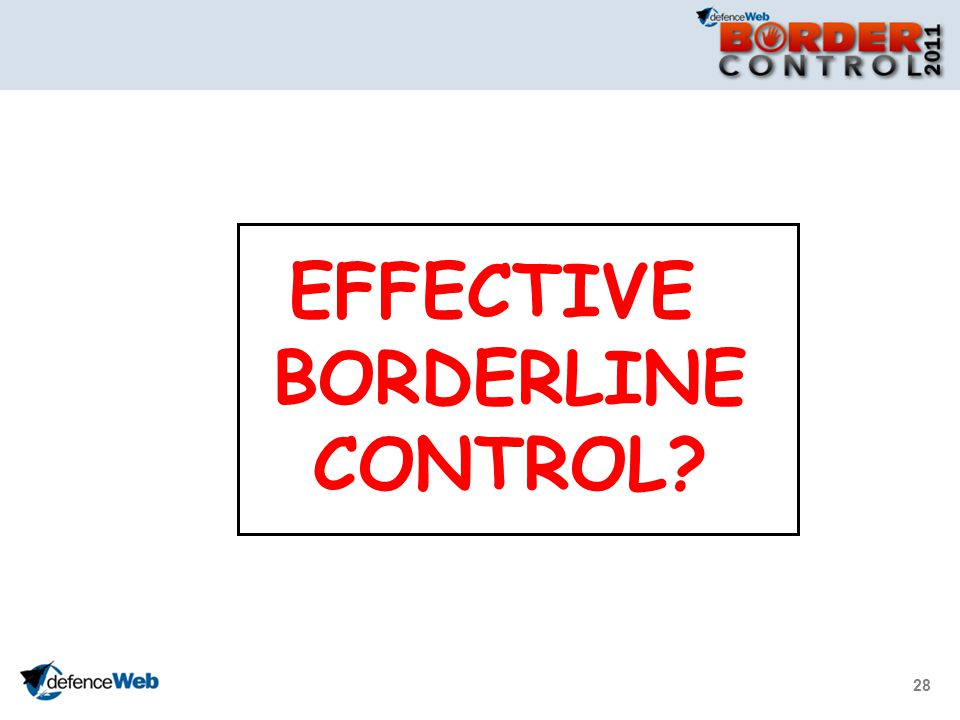 28 EFFECTIVE BORDERLINE CONTROL