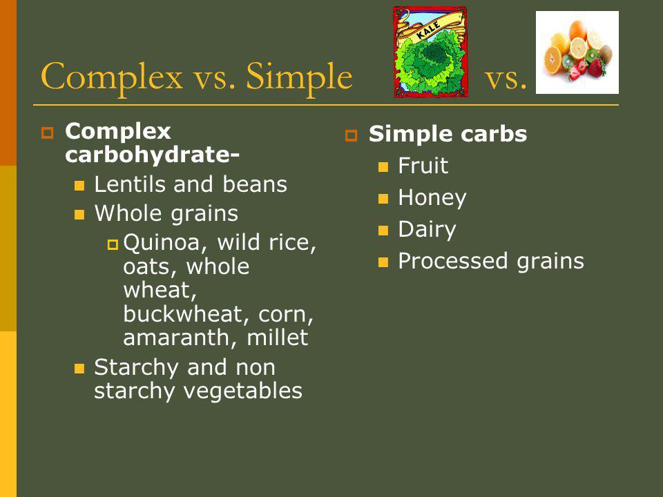 Complex vs. Simple vs.