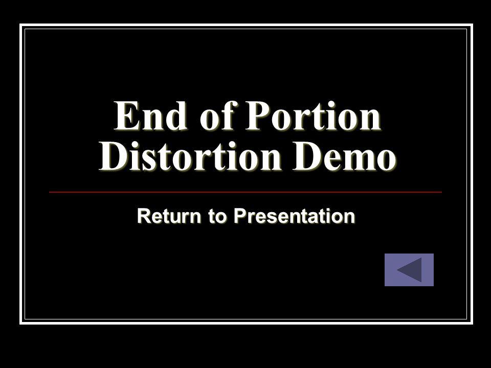 End of Portion Distortion Demo Return to Presentation