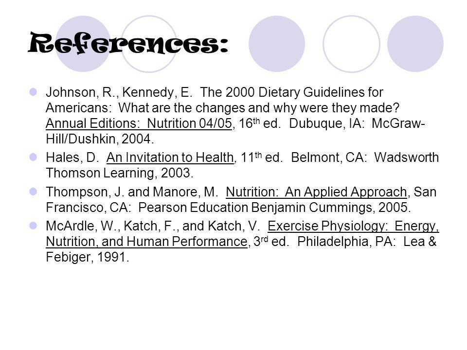 References: Johnson, R., Kennedy, E.