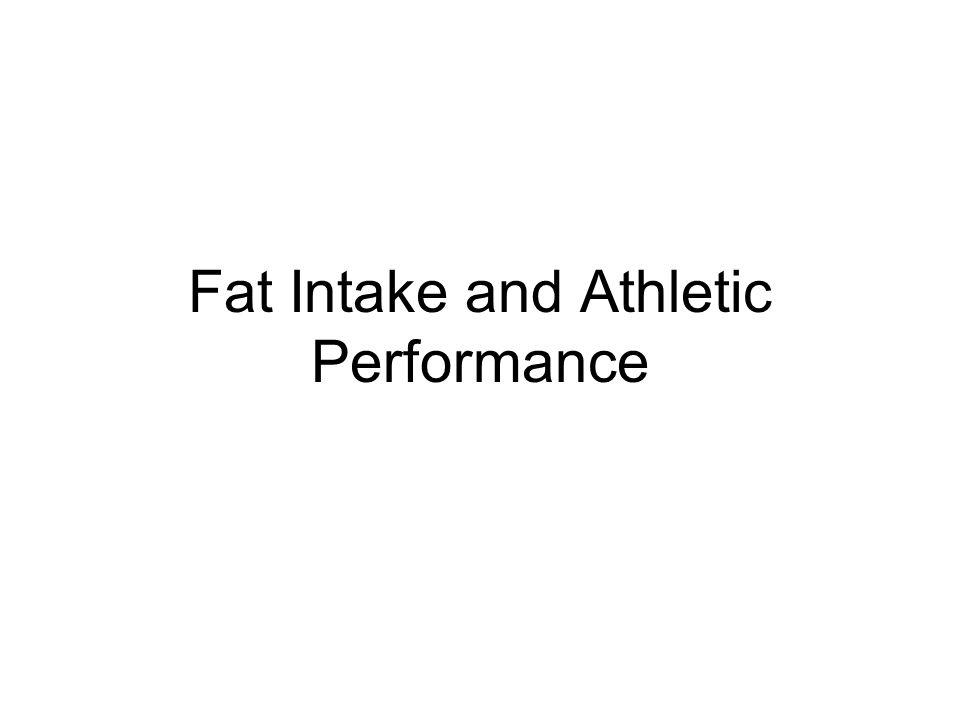 Summary of FAT Manipulations and Endurance Performance Studies 1.