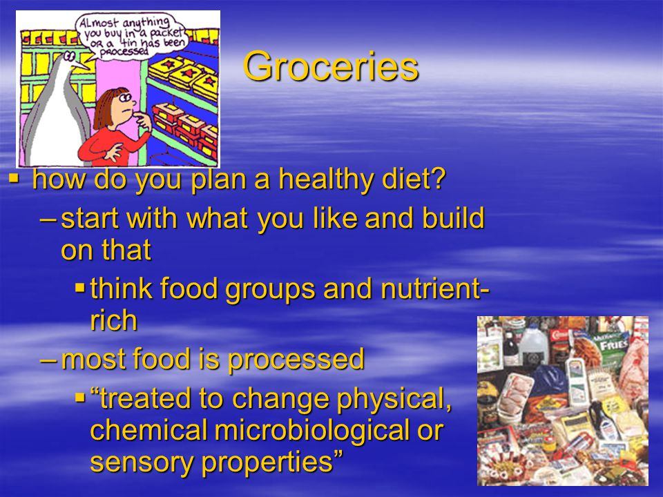 Groceries how do you plan a healthy diet.how do you plan a healthy diet.