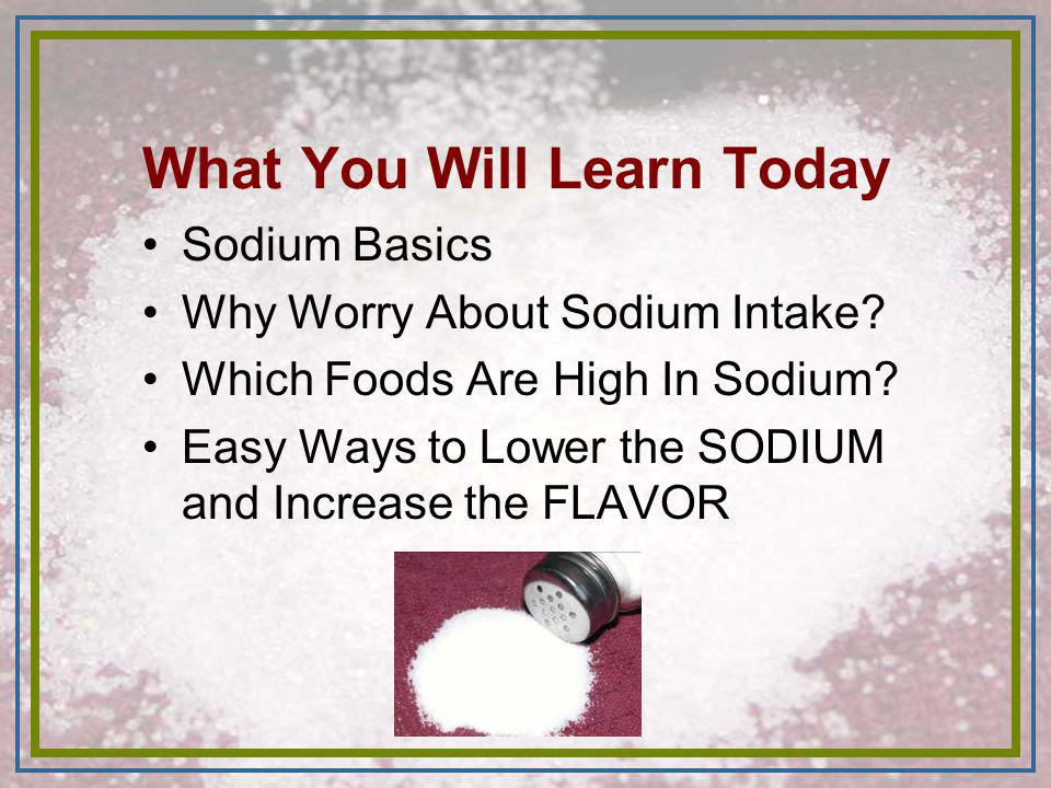 REVIEW Lowering sodium intake -can lower BP significantly -results in lower disease risk