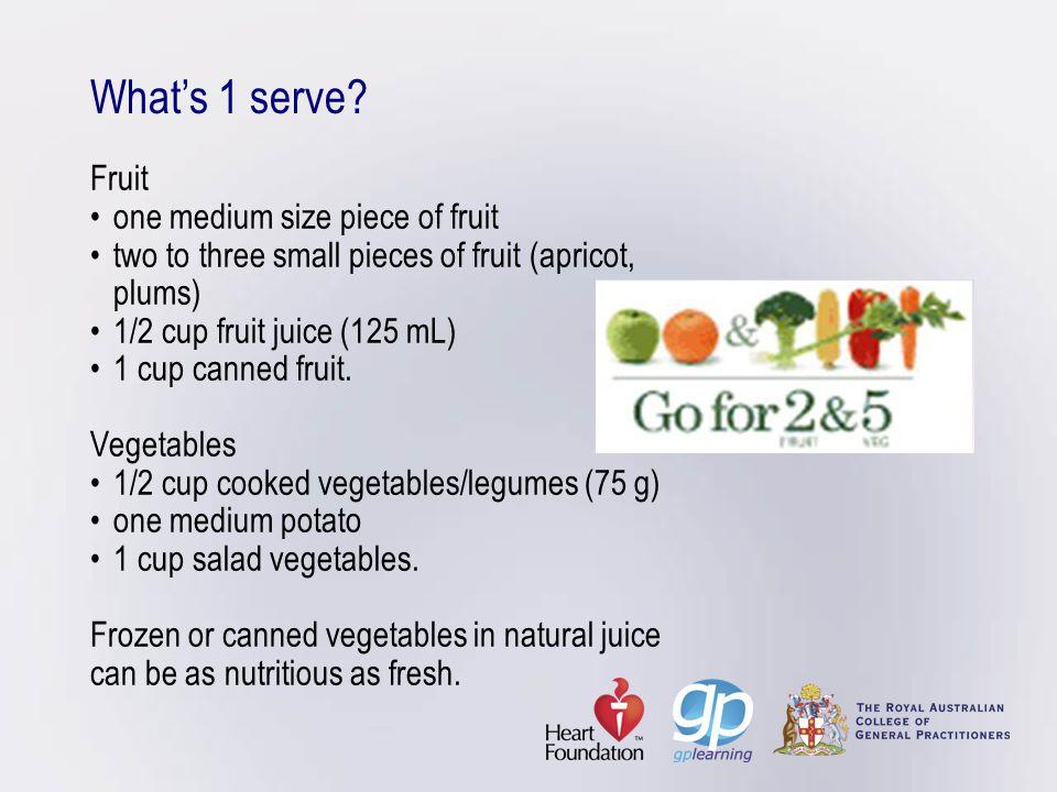 Whats 1 serve.