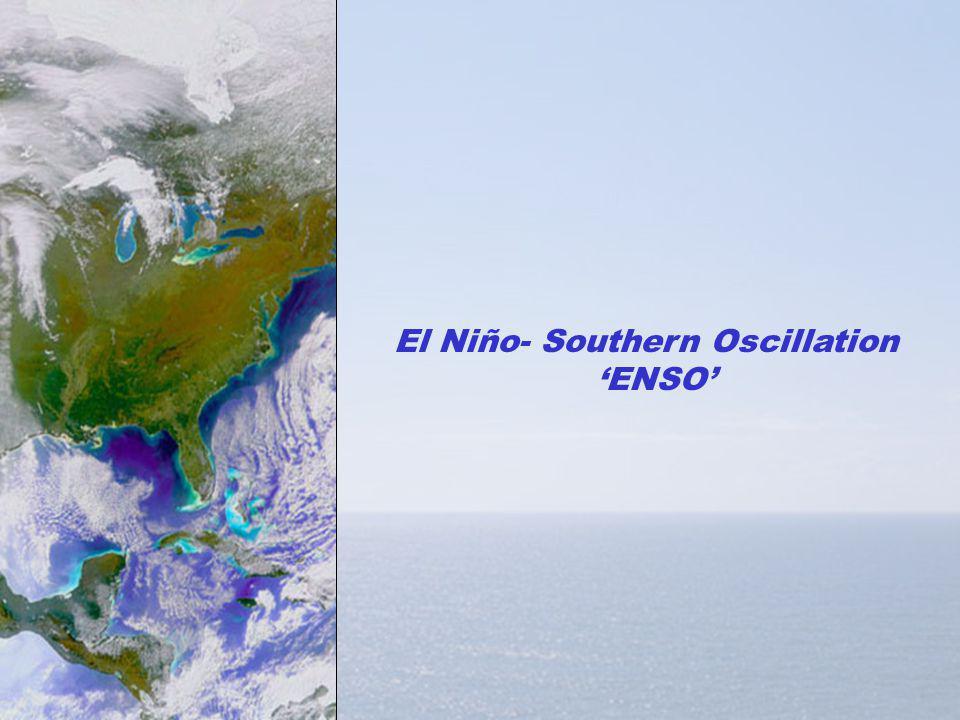 El Niño- Southern Oscillation ENSO