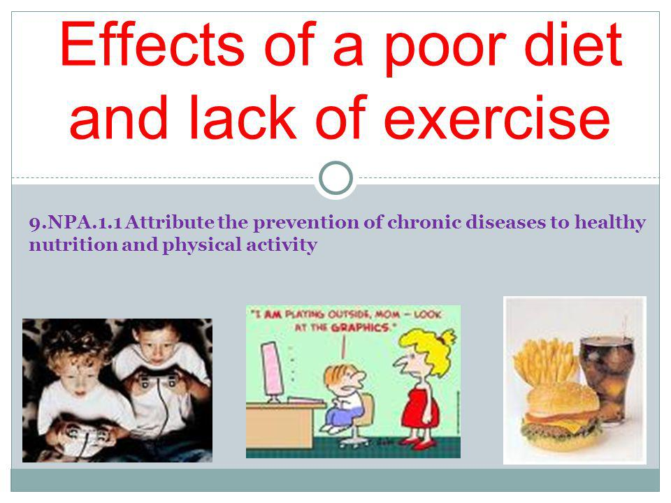 Minnies Story Read Minnies Story Think about the following questions: What are the short and long term consequences of a poor diet and lack of exercise.
