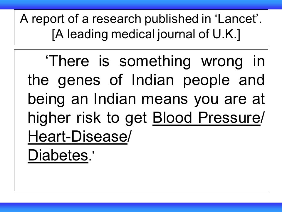 A report of a research published in Lancet.