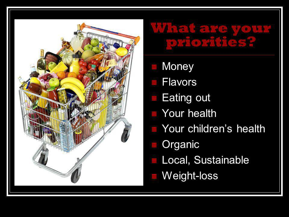 What are your priorities.