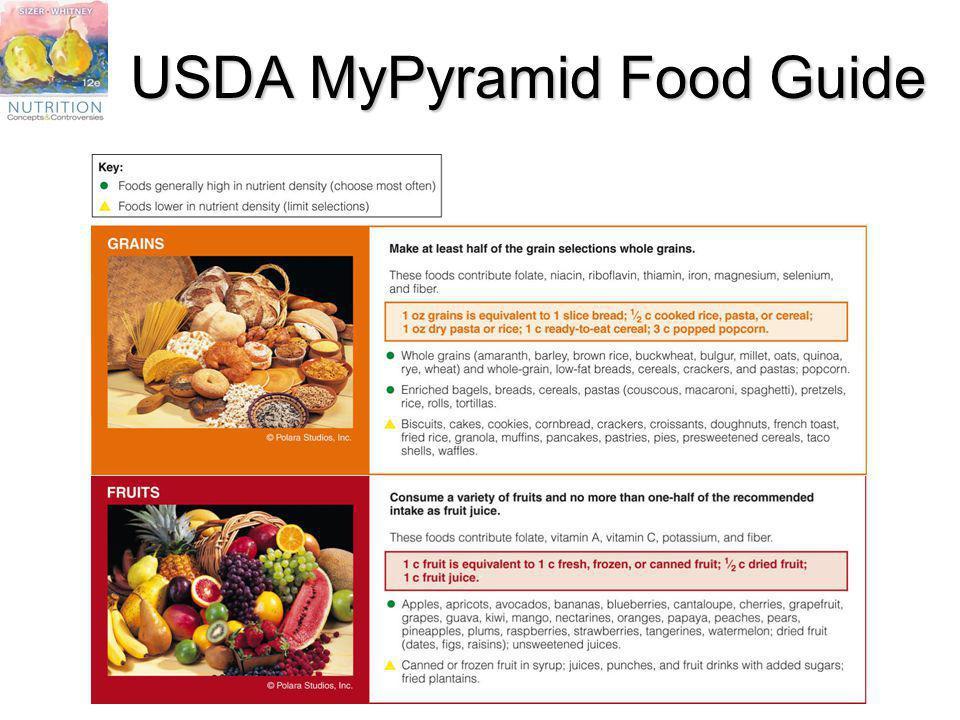 USDA MyPyramid Food Guide