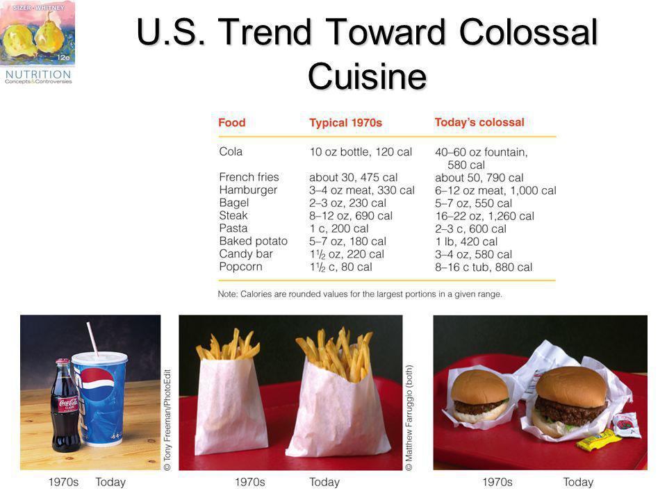 U.S. Trend Toward Colossal Cuisine