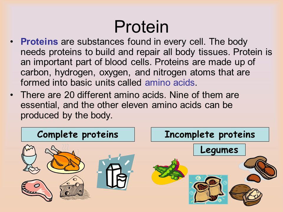 Protein Proteins are substances found in every cell.