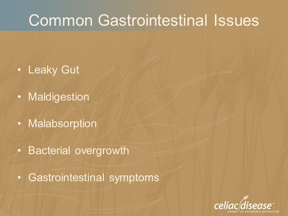 Common Gastrointestinal Issues Leaky Gut Maldigestion Malabsorption Bacterial overgrowth Gastrointestinal symptoms