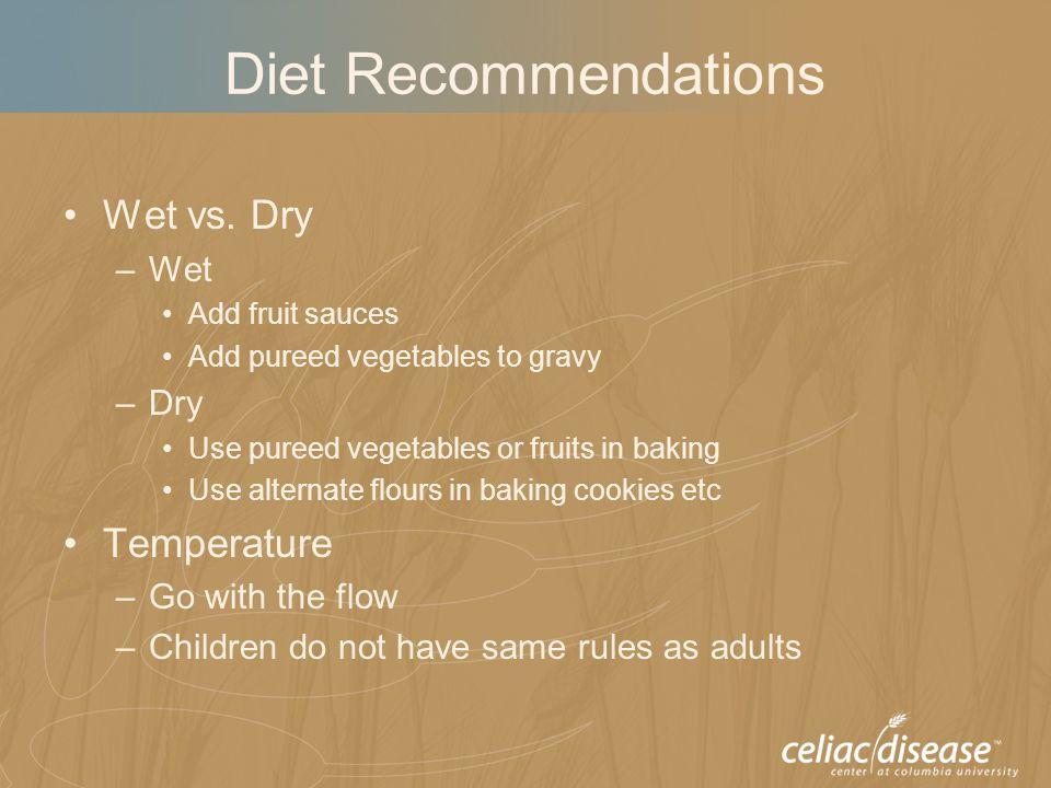 Diet Recommendations Wet vs.
