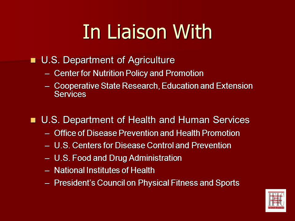 In Liaison With U.S. Department of Agriculture U.S.