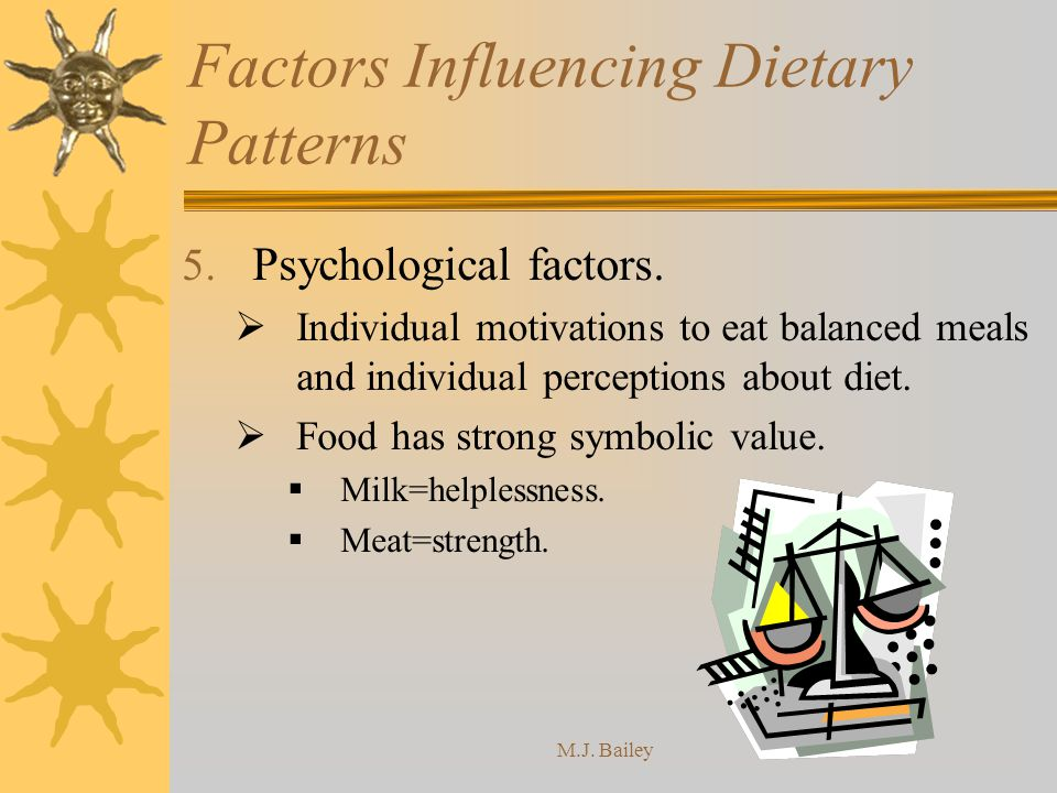 M.J.Bailey Factors Influencing Dietary Patterns 5.