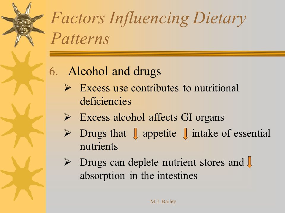 M.J.Bailey Factors Influencing Dietary Patterns 6.