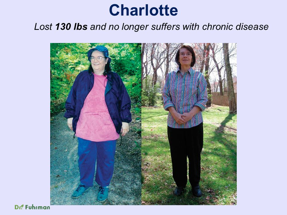 Charlotte Lost 130 lbs and no longer suffers with chronic disease