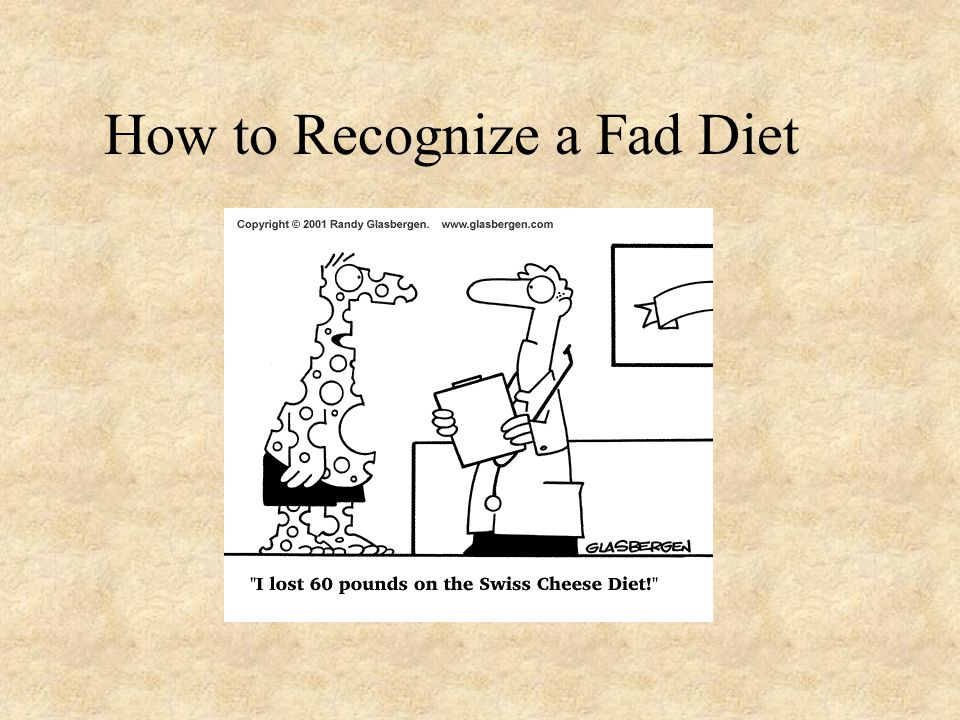 How to Recognize a Fad Diet