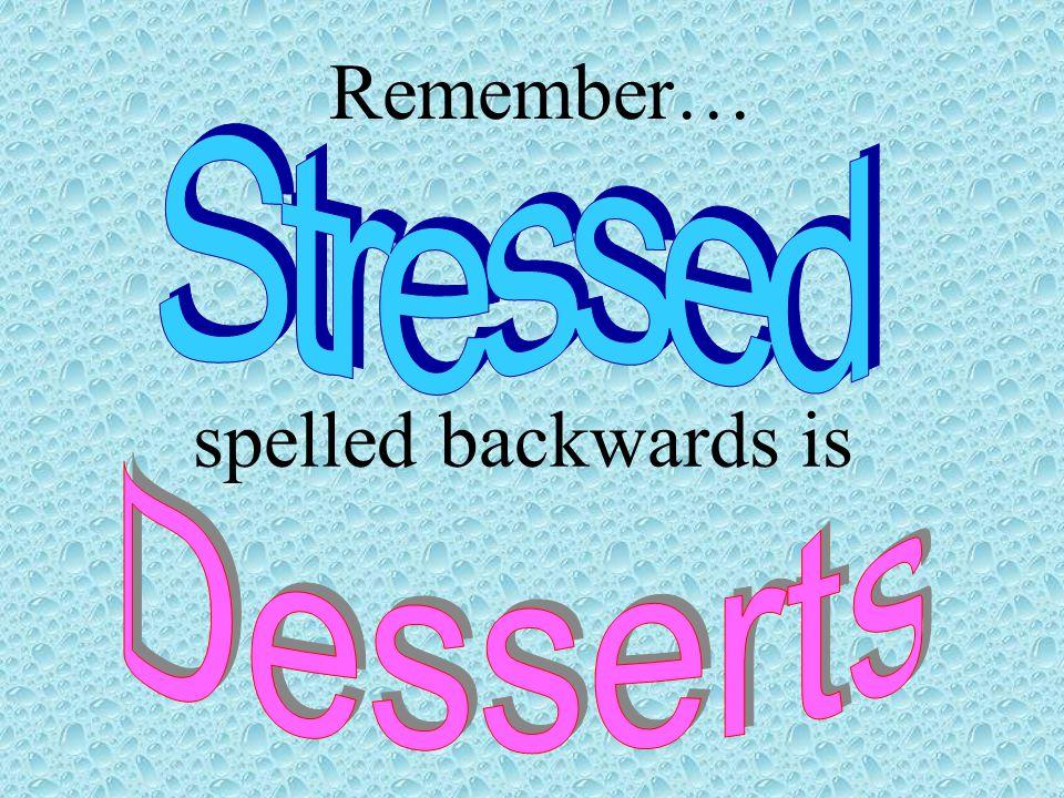 spelled backwards is Remember…