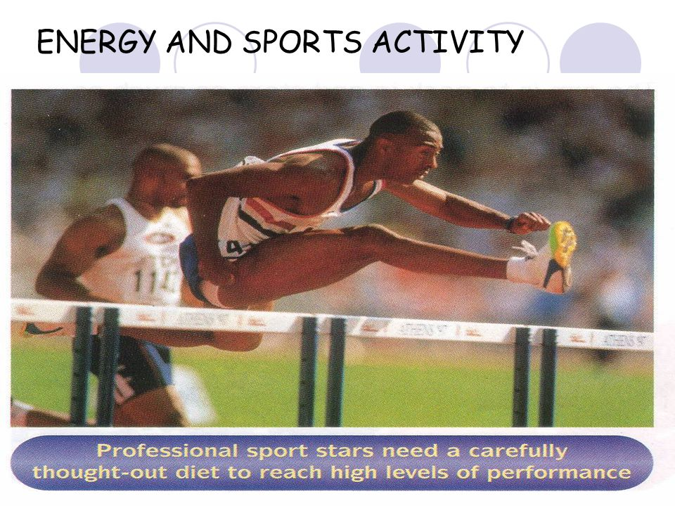 ENERGY AND SPORTS ACTIVITY