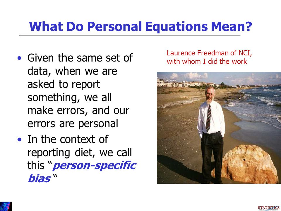 What Do Personal Equations Mean.