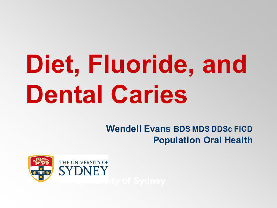 Dental caries was ranked as the highest diet-related disease in Australia in terms of both total costs and health care costs (Crowley et al 1992).