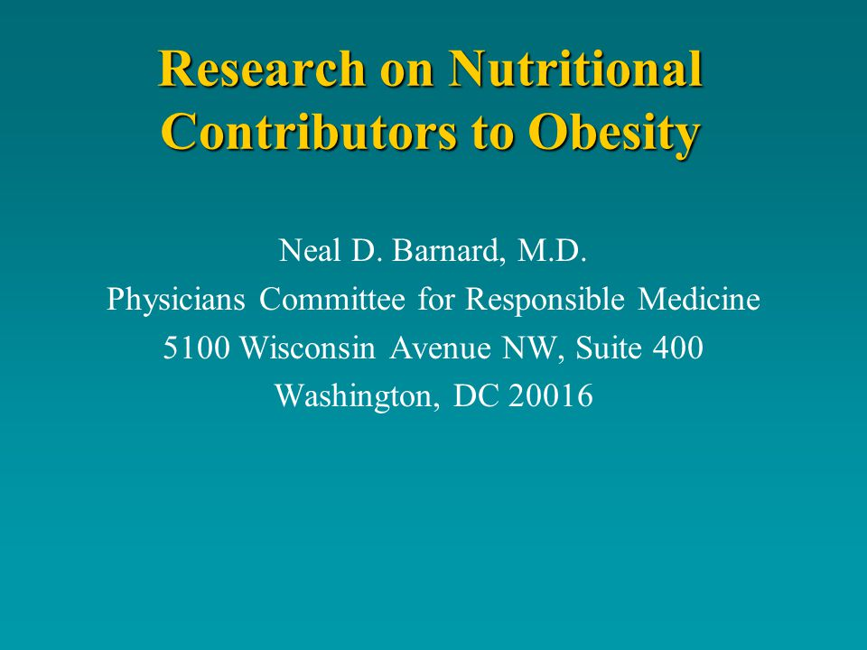 Diets Low-Fat, Vegan Diet Grains, vegetables, legumes, and fruitsGrains, vegetables, legumes, and fruits No limit on energy intake or portion sizesNo limit on energy intake or portion sizes Excluded animal products, oils, high-fat plant foodsExcluded animal products, oils, high-fat plant foods ~10% of energy from fat, 15% from protein, and 75% from carbohydrates~10% of energy from fat, 15% from protein, and 75% from carbohydrates Control Diet NCEP Step II guidelinesNCEP Step II guidelines No limit on energy intakeNo limit on energy intake Meat intake < 6 ounces/day and fat grams < 60 per dayMeat intake < 6 ounces/day and fat grams < 60 per day Total fat limited to 30% of energyTotal fat limited to 30% of energy ~15% of energy from protein and > 55% from carbohydrates~15% of energy from protein and > 55% from carbohydrates