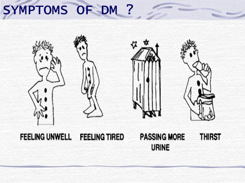 SYMPTOMS OF DM