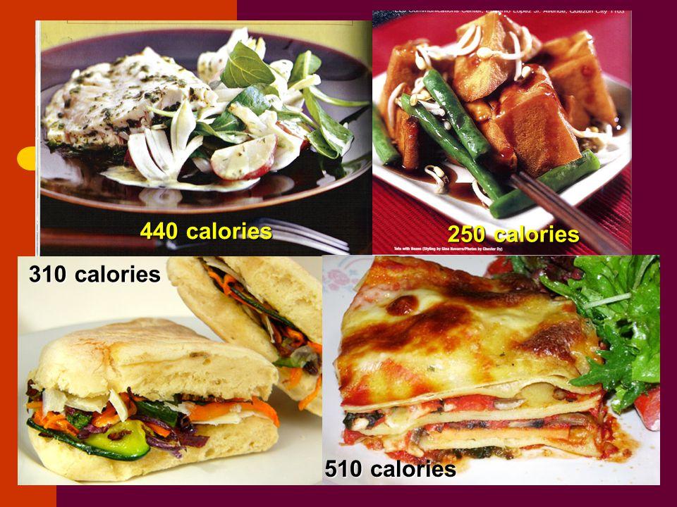 440 calories 250 calories 310 calories 510 calories