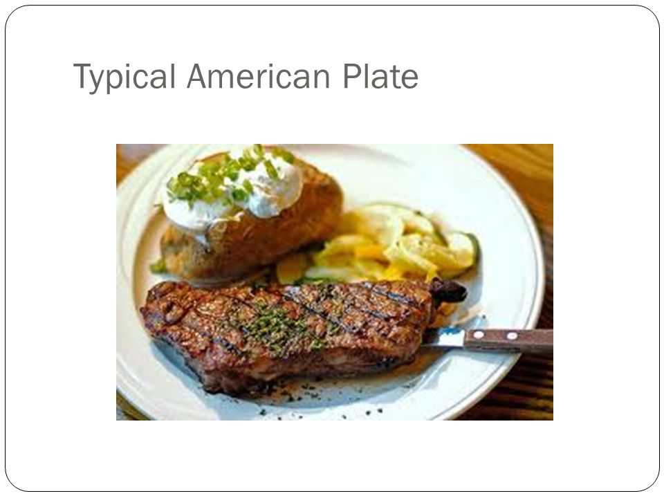 Typical American Plate
