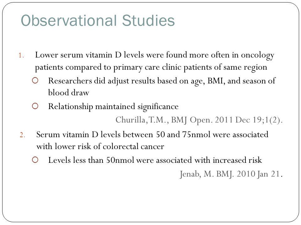 Observational Studies 1.