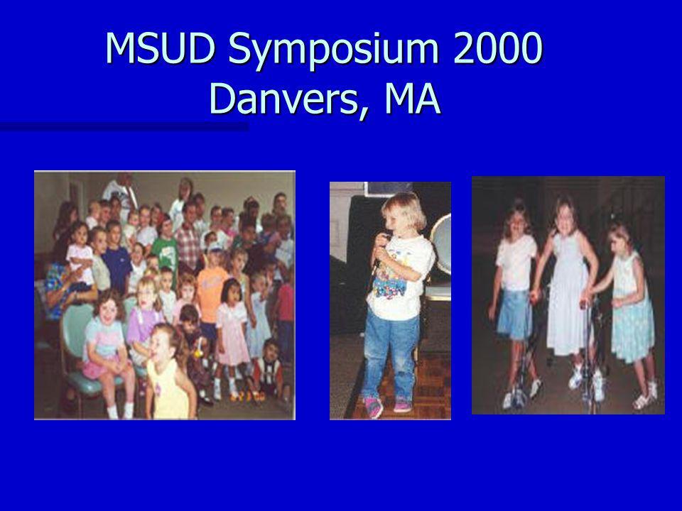 MSUD Symposium 2000 Danvers, MA