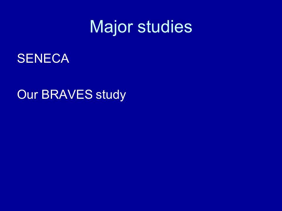 Major studies SENECA Our BRAVES study