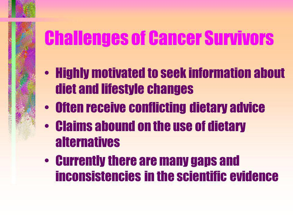 Caloric Intake Past belief, starvation would deprive a growing tumour of needed nutrition, therefore nutritional intake should be severely restricted to treat cancer Research has shown that starvation does not increase survival, but is detrimental due to high nutritional needs during and after therapy