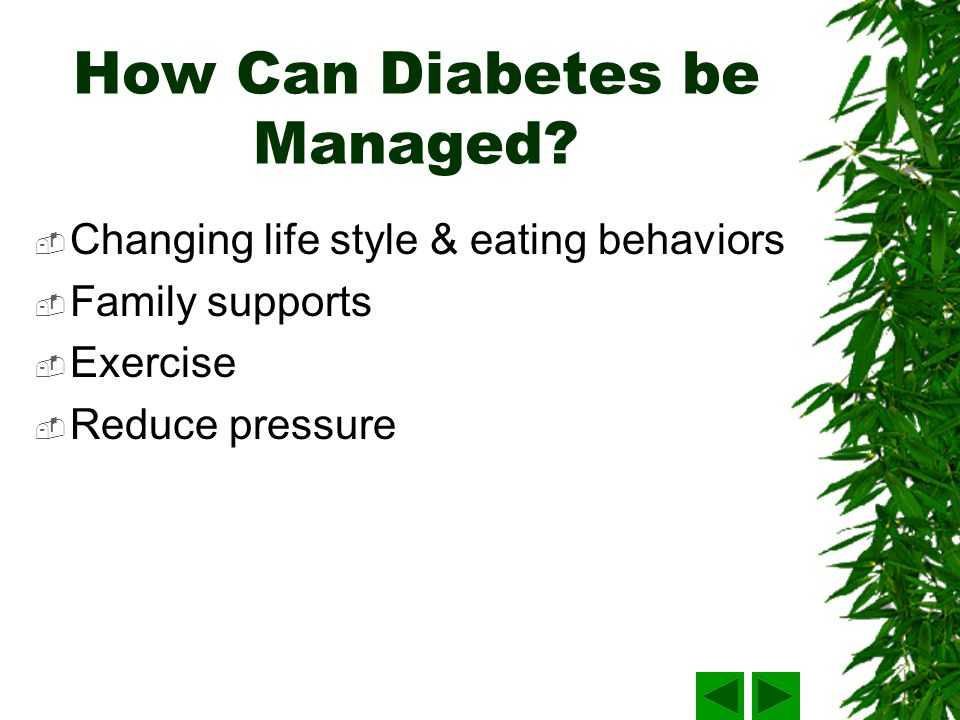 How Can Diabetes be Managed.
