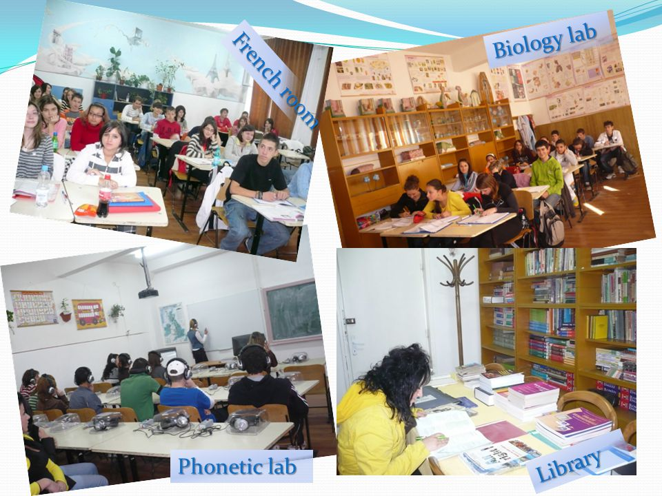 French room Biology lab Phonetic lab Library